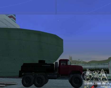 ZIL 131 petroleiro para GTA San Andreas esquerda vista