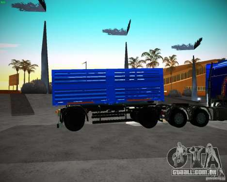 Reboque Kamaz 65117 grão para GTA San Andreas esquerda vista