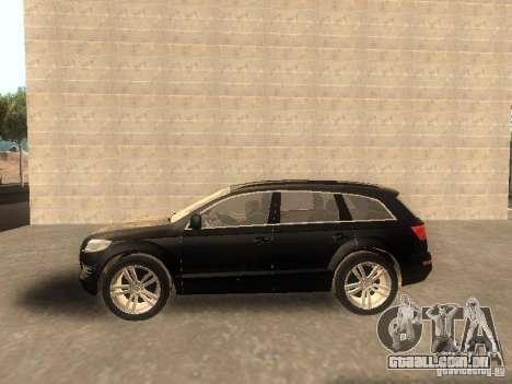 Audi Q7 TDI Stock para GTA San Andreas esquerda vista