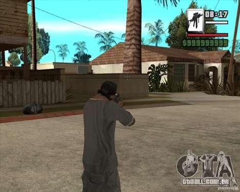 Sig550-m4 para GTA San Andreas terceira tela
