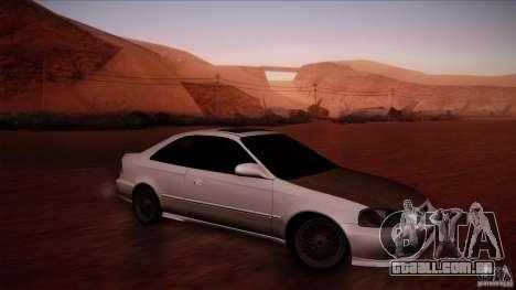Honda Civic Coupe Si Coupe 1999 para GTA San Andreas esquerda vista