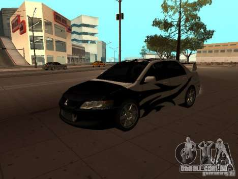 Mitsubishi Lancer Evolution 8 para vista lateral GTA San Andreas