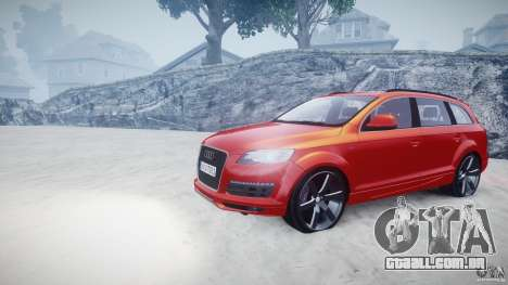 Audi Q7 LED Edit 2009 para GTA 4 vista de volta