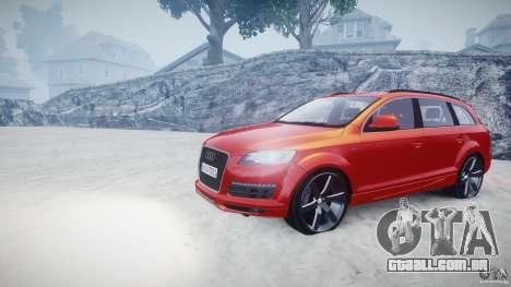 Audi Q7 LED Edit 2009 para GTA 4 vista de volta