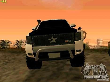 Chevrolet Silverado Final para GTA San Andreas vista traseira