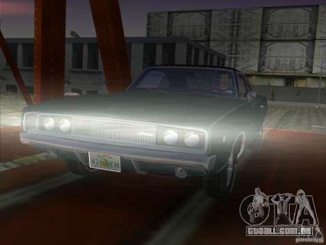 Dodge Charger 426 R/T 1968 v1.0 para GTA Vice City vista traseira esquerda
