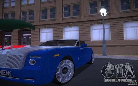 Rolls-Royce Phantom Drophead Coupe para GTA San Andreas vista traseira