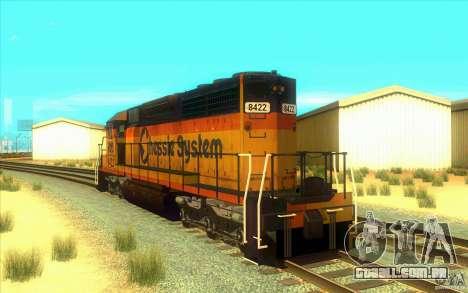 Chessie System sd40-2 para GTA San Andreas traseira esquerda vista