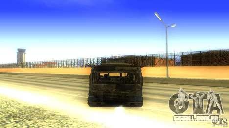 Frontline - MilBus para GTA San Andreas vista traseira