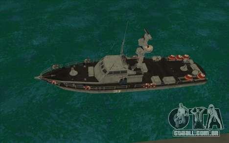 Barco militar de CODMW3 para GTA San Andreas esquerda vista