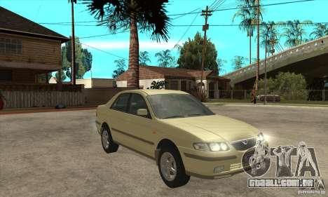 MAZDA 626 GF Sedan para GTA San Andreas vista traseira