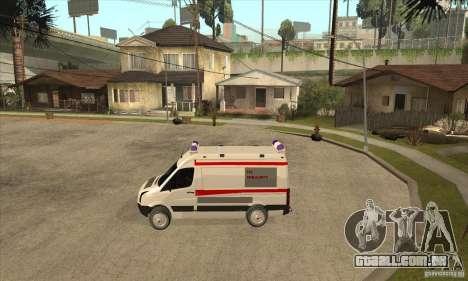 Volkswagen Crafter Ambulance para GTA San Andreas esquerda vista