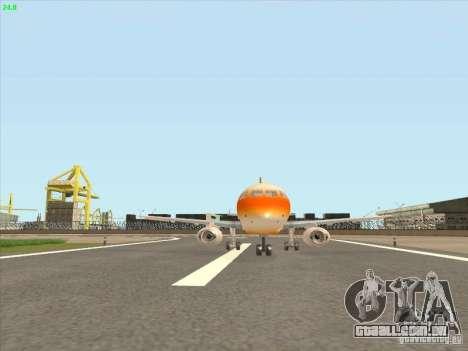 Sukhoi Superjet-100 para GTA San Andreas esquerda vista