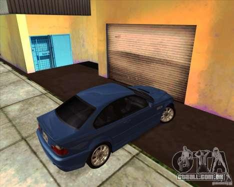 BMW M3 E46 stock para GTA San Andreas vista traseira