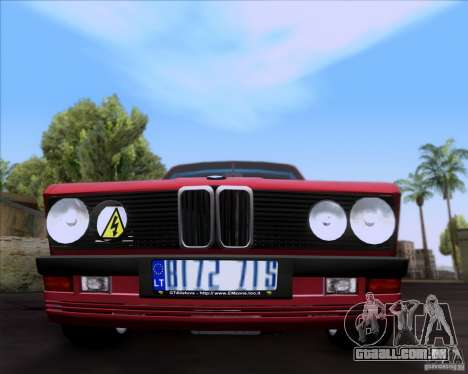 BMW 5-er E28 para vista lateral GTA San Andreas