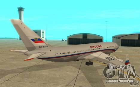A IL-96 300 STC Rússia para GTA San Andreas vista direita