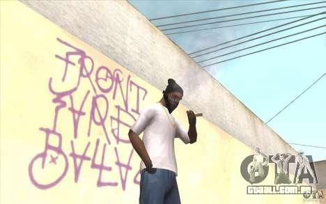 V2 sem dedos para GTA San Andreas terceira tela