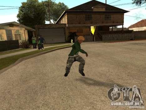 Jogando as lâminas para GTA San Andreas