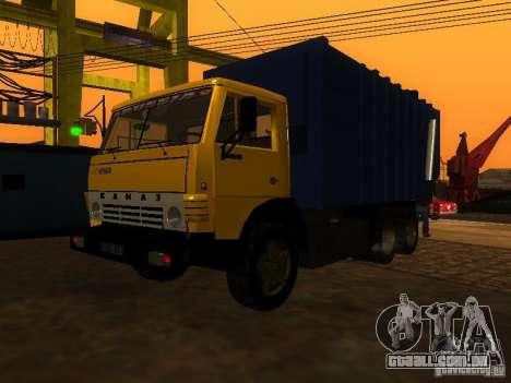 Caminhão de lixo 53212 KAMAZ para GTA San Andreas vista direita
