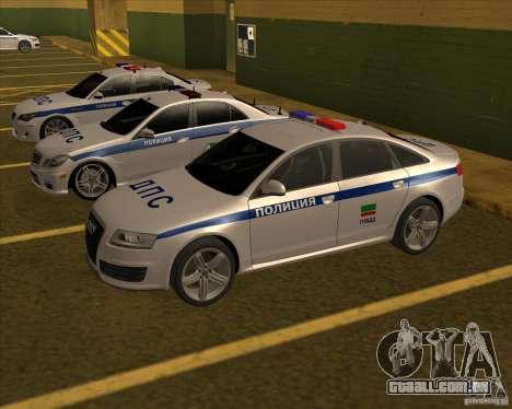 Audi RS6 2010 DPS para GTA San Andreas traseira esquerda vista