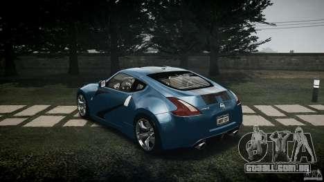 Nissan 370Z Coupe 2010 para GTA 4 traseira esquerda vista