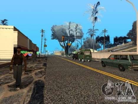 Véspera de ano novo no Grove Street para GTA San Andreas quinto tela