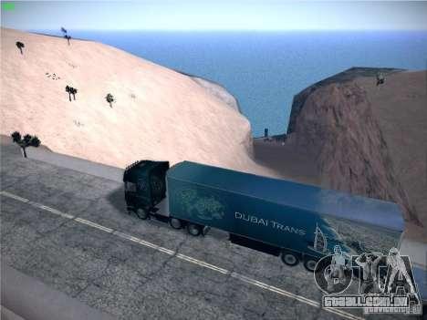 Trailer de Scania R620 Dubai Trans para GTA San Andreas esquerda vista