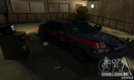 BMW M3 E46 TUNEABLE para GTA San Andreas vista superior