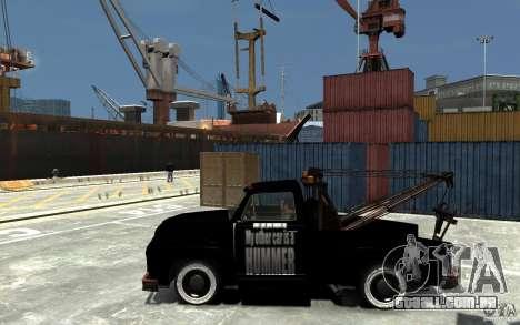 Black Towtruck para GTA 4 esquerda vista