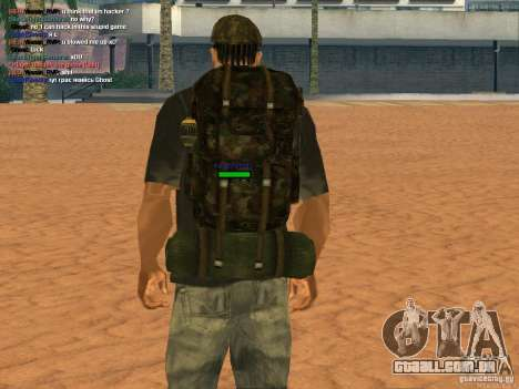Military backpack para GTA San Andreas terceira tela