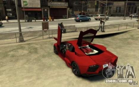 Lamborghini Reventon Coupe para GTA 4 traseira esquerda vista