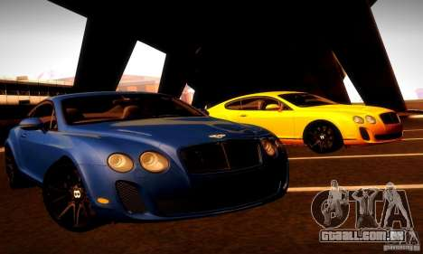 Bentley Continental Supersports para GTA San Andreas vista inferior