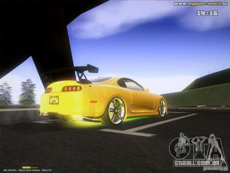 Toyota Supra v2 (MyGame Drift Team) para GTA San Andreas vista direita