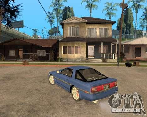 Toyota Supra MK3 para GTA San Andreas vista interior
