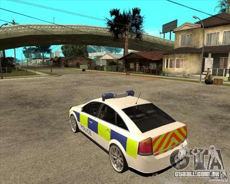 2005 Opel Vectra Police para GTA San Andreas esquerda vista