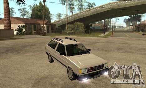 VW Parati GLS 1989 para GTA San Andreas vista traseira