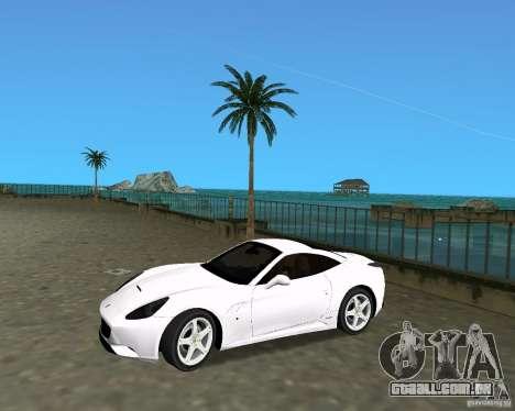 Ferrari California para GTA Vice City vista direita