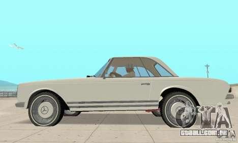 Mercedes-Benz 280SL (brilhante) para GTA San Andreas traseira esquerda vista