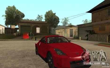 Nissan 350Z Supreme para GTA San Andreas vista traseira