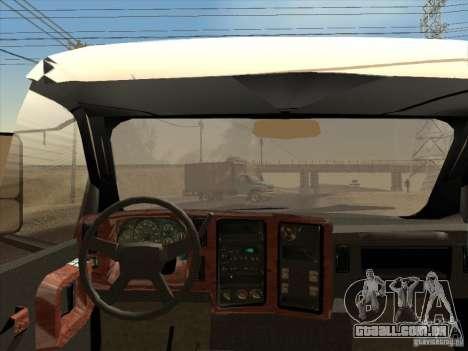 GMC 5500 2001 para GTA San Andreas vista traseira
