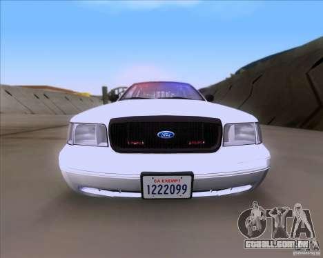Ford Crown Victoria 2009 Detective para GTA San Andreas vista direita