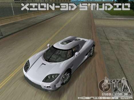 Koenigsegg CCX para GTA Vice City vista direita