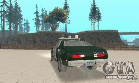 Plymouth Duster 340 Police para GTA San Andreas esquerda vista