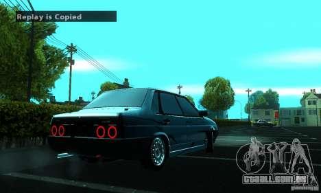 PROTOCOLO VAZ 21099 para GTA San Andreas vista traseira