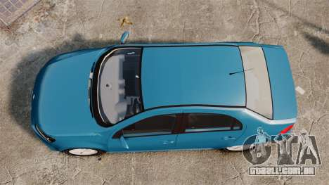 Volkswagen Voyage G6 2013 para GTA 4 vista direita