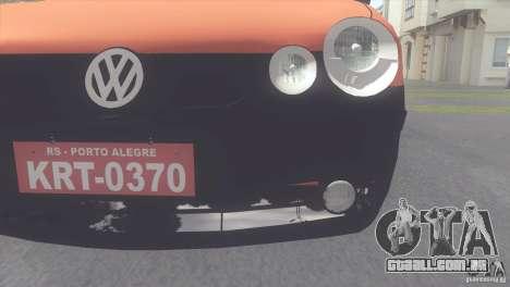 VW Polo Taxi de Porto Alegre para GTA San Andreas traseira esquerda vista