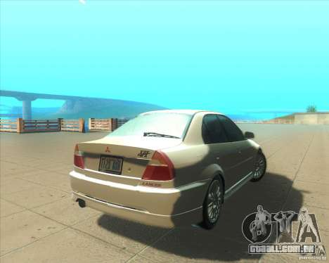 Mitsubishi Lancer Evolution VI 1999 Tunable para GTA San Andreas vista superior