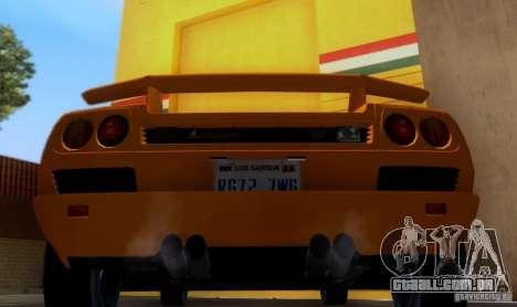 Lamborghini Diablo VTTT Black Revel para GTA San Andreas vista direita