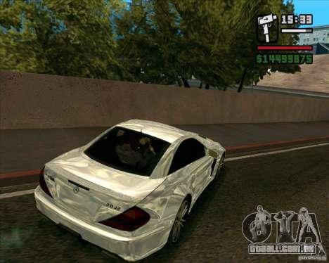 Mercedes-Benz SL65 AMG Black Series para GTA San Andreas traseira esquerda vista