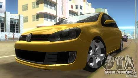 Volkswagen Golf 6 GTI para GTA Vice City deixou vista